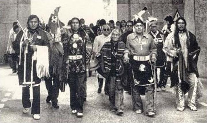 Manifestation indiens d'ameriques